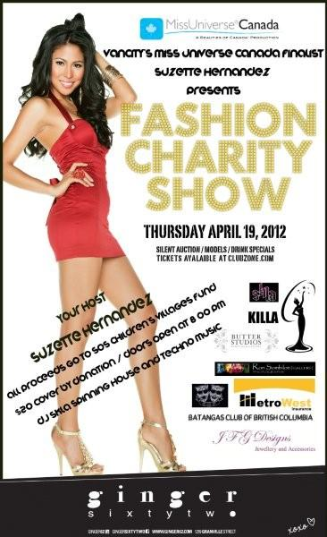 Miss Universe Canada Pageant Fashion/Charity Event